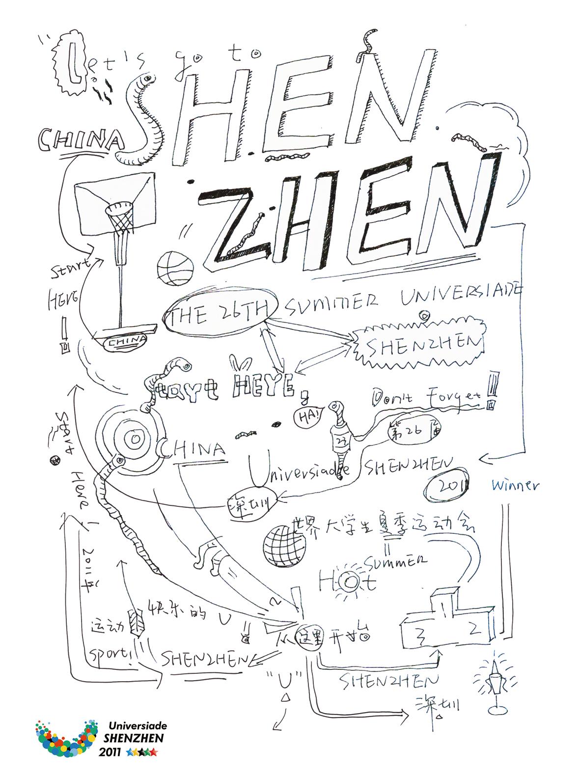 深圳第26届世界大学生运动会海报设计银奖-从这里开始
