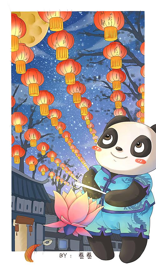 熊猫邮局约稿明信片系列