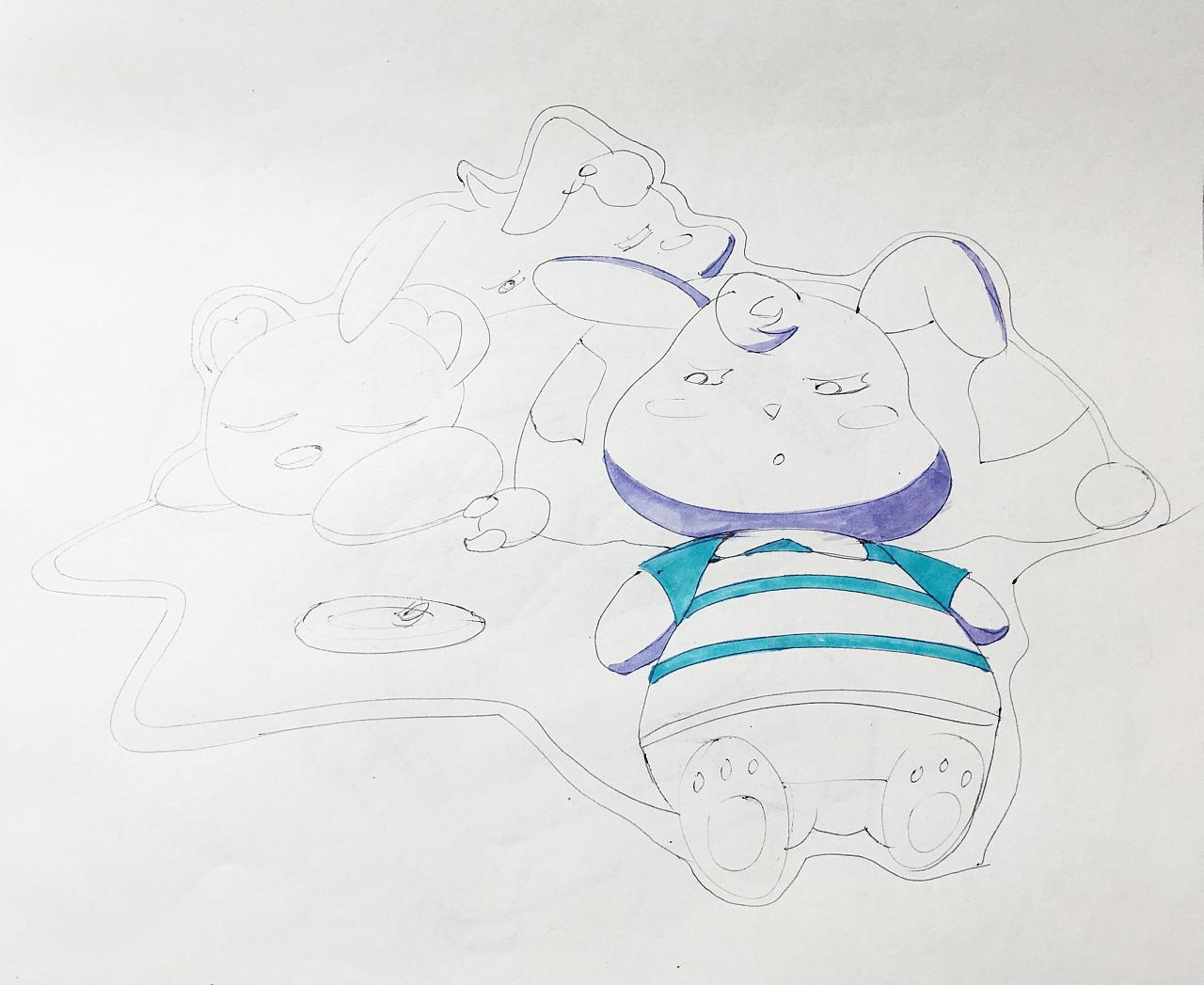 手绘卡通兔兔