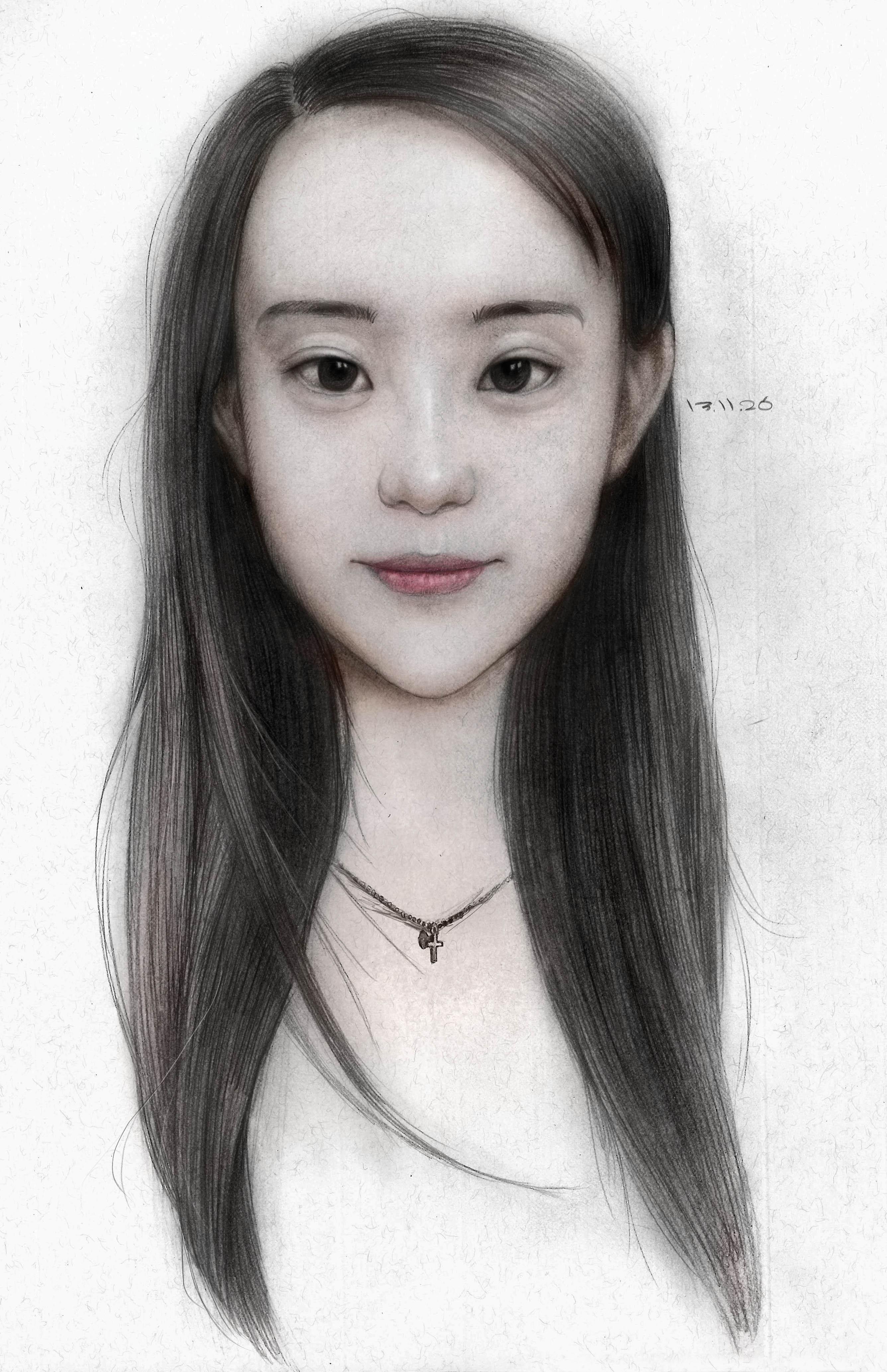 人物肖像 吴桐 素描 速写 |动漫|肖像漫画|jiede