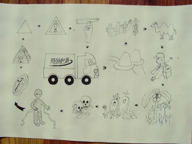 图形创意基础作业——图形语言的魅力|绘画习作|插画图片