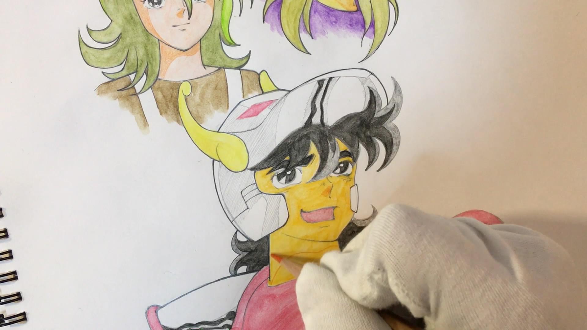 彩铅绘画《圣斗士》