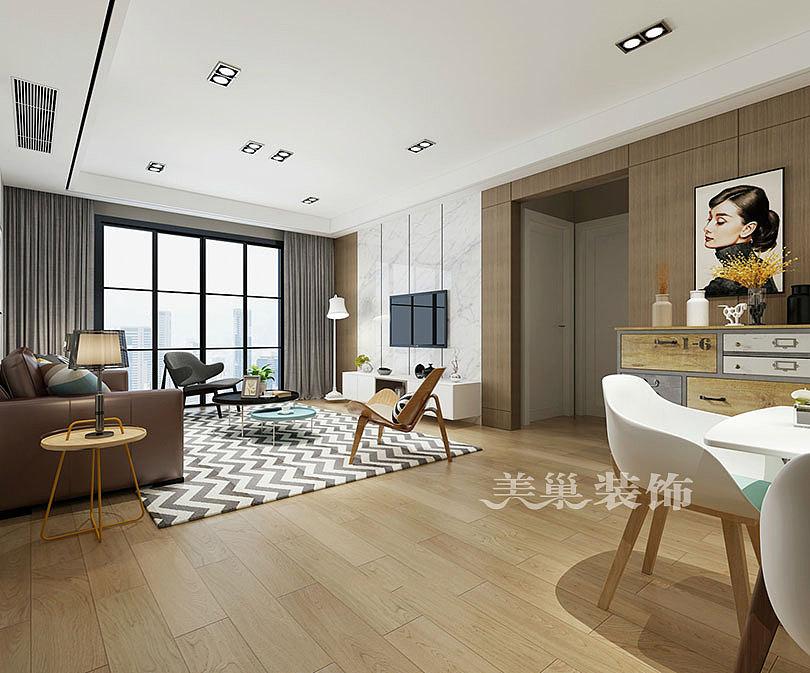 林语美墅110平简欧风格三室两厅需要装修钱海报设计v风格技巧图片