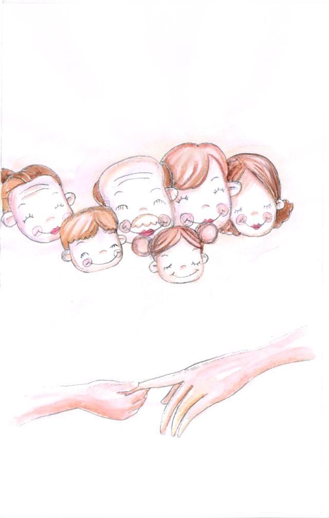 母亲节手绘|绘画习作|插画|分蓝