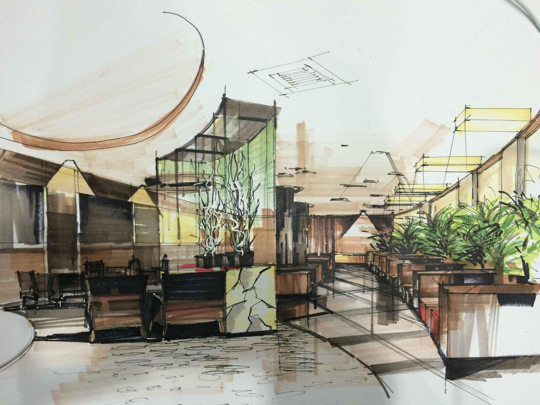 室内手绘|空间|室内设计|牛东海 - 原创作品 - 站酷