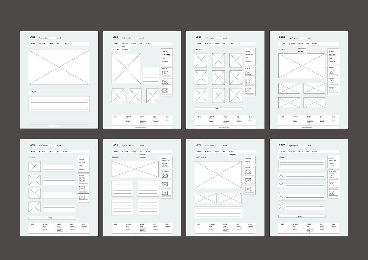网站设计 结构图 原型图 线框图