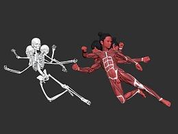 罗其胜作品 进击的哪吒肌肉渲染图!