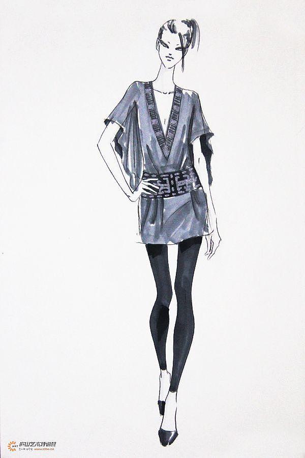 服装马克笔手绘系列——孙雪飞老师|服装|正装/礼服