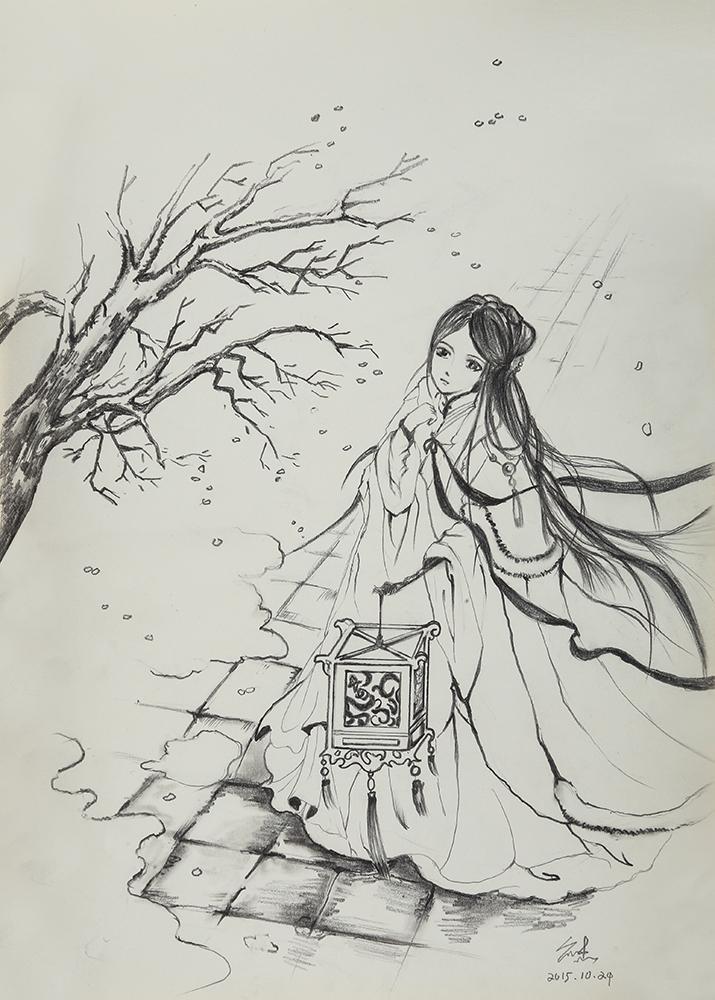 走一波古风手绘 有一段时间很喜欢画这种