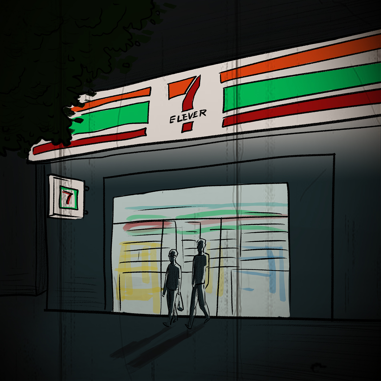 恐怖漫画漫画|漫画|短篇/四格电梯|昊昊HOWHra动漫图片