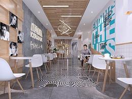 景德镇冰雨网咖旗舰店空间设计