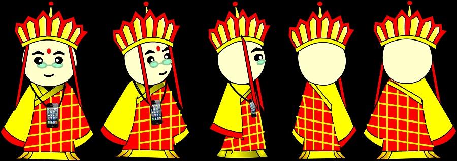 唐僧师徒卡通人物设计