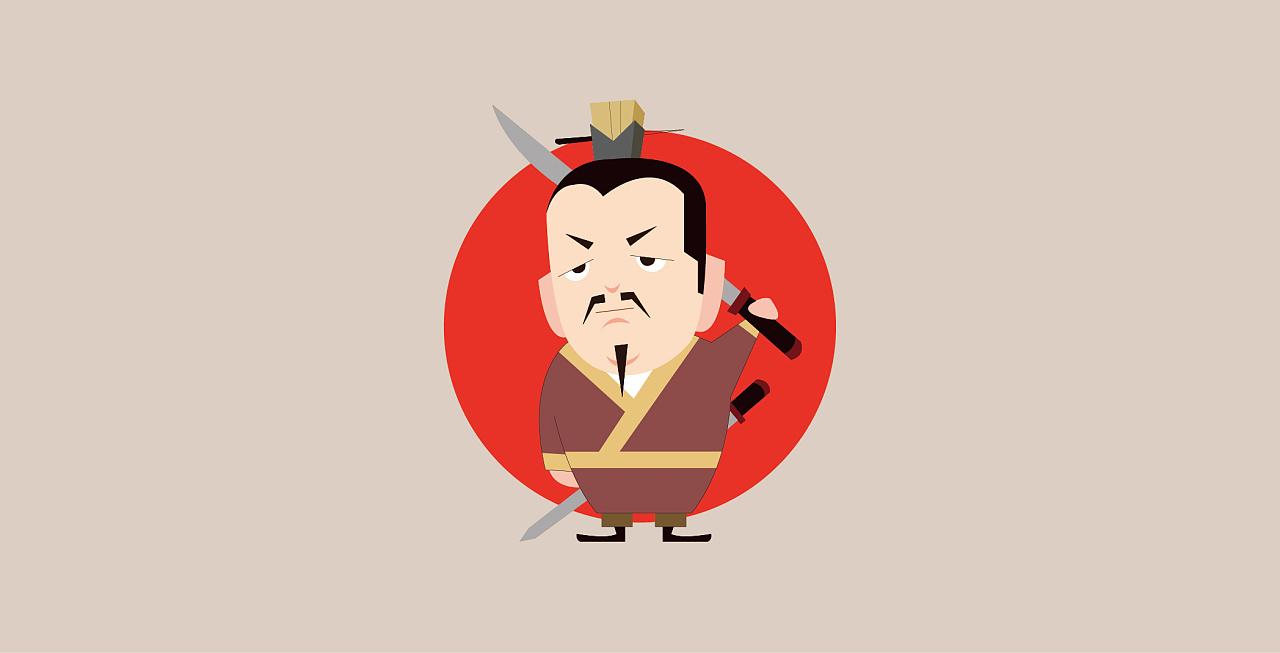 【趣味三国】三国人物主题插画图片