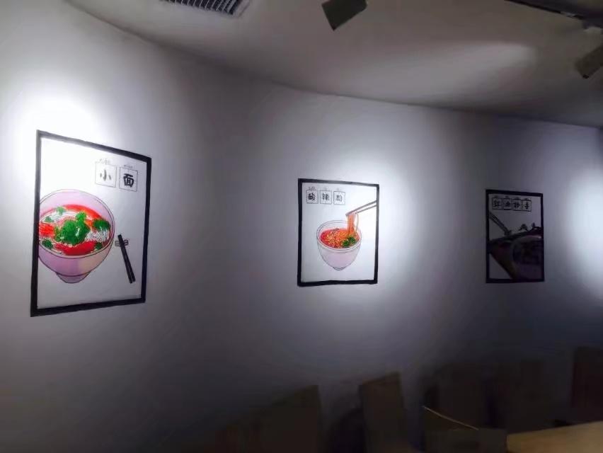 重庆小面馆 手绘墙