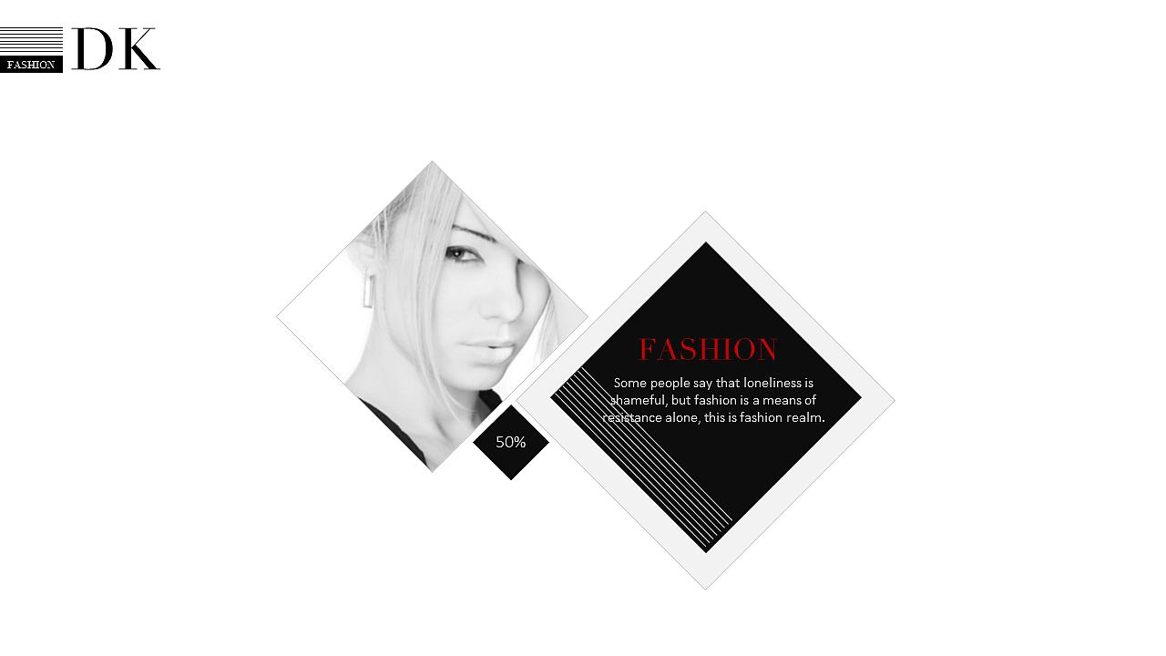 简约时尚服装杂志汇报展示品牌宣讲ppt模板【时尚系列3】|平面|ppt图片