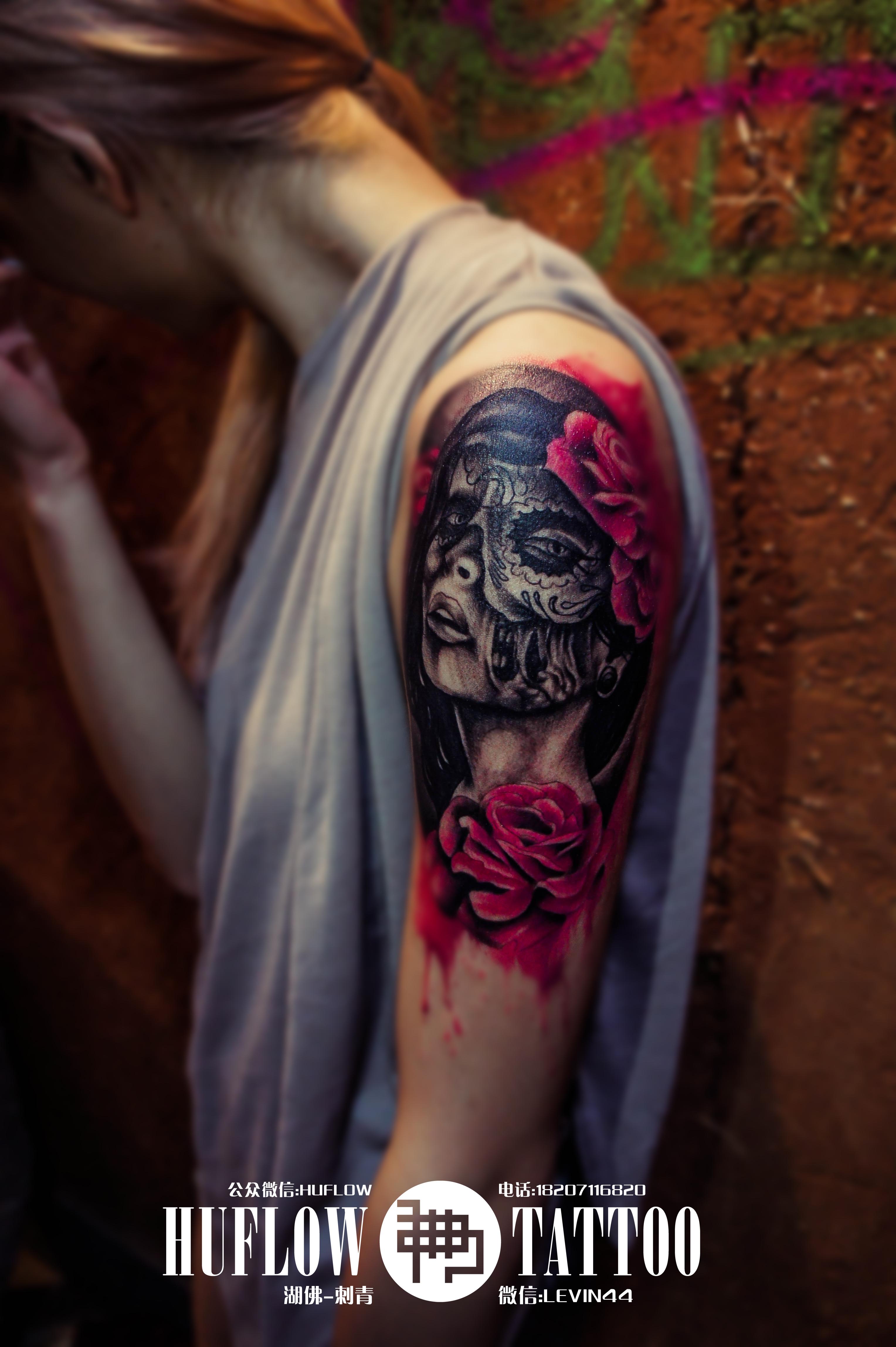 手绘黑暗小纹身