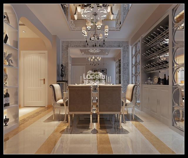 中山华府138平米三居室现代风格装修设计方案效果图片