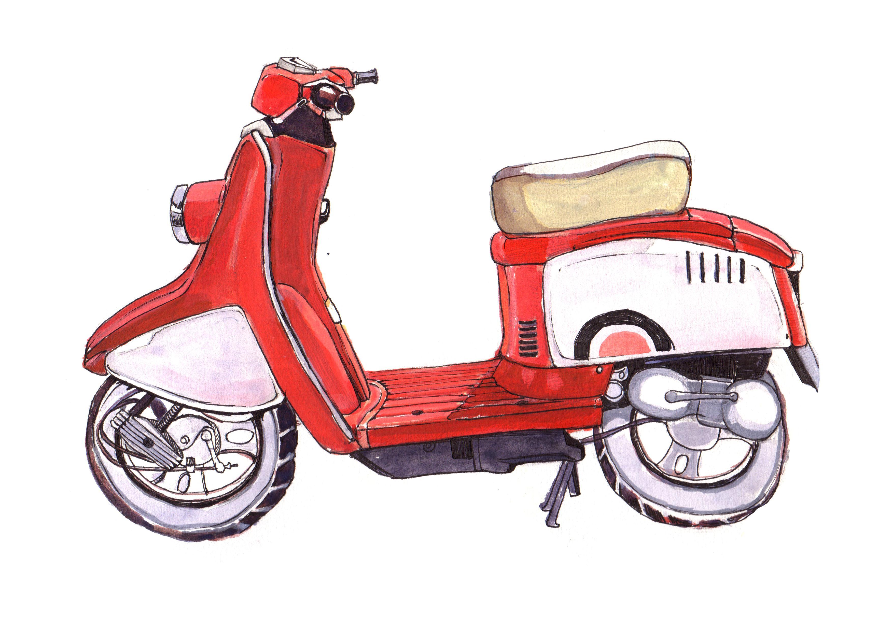 摩托车(手绘)