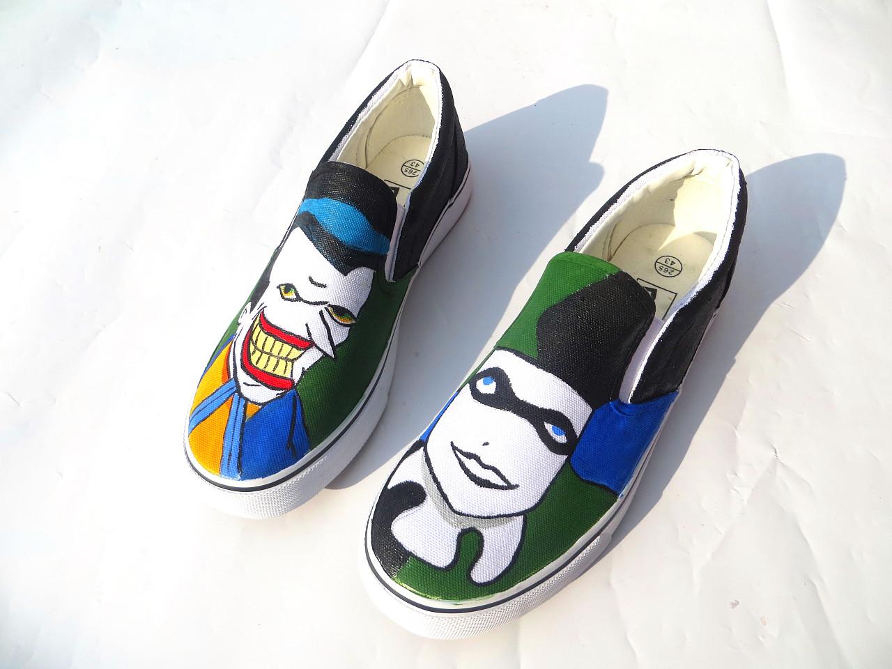 纯手绘 个性来图定制 手绘鞋