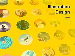 黑马集04 圆形构图插画设计