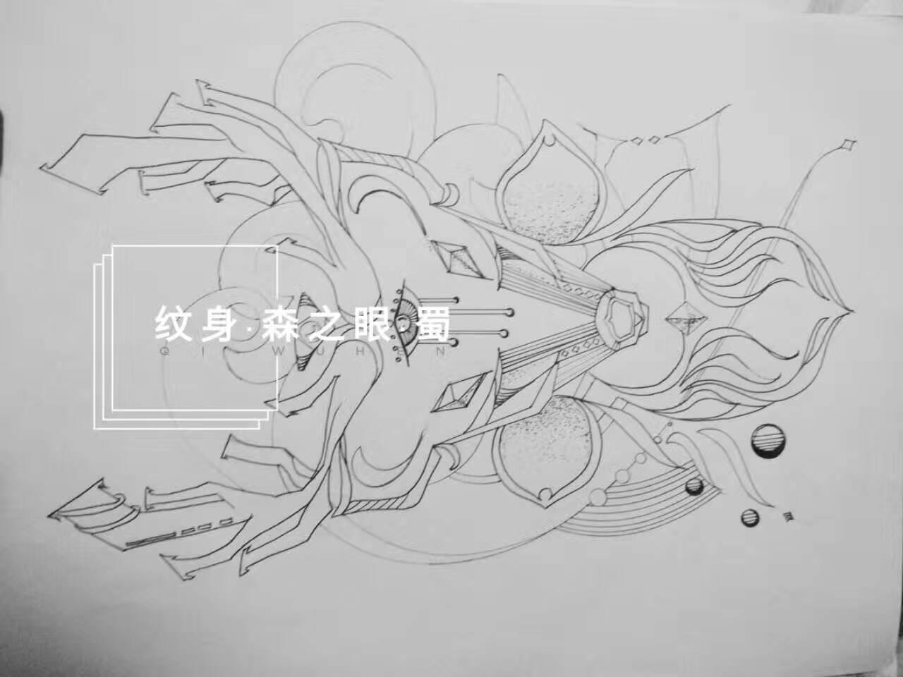 薇恩纹身手绘稿