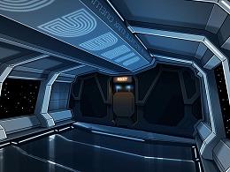 科幻场景创作- 太空舱