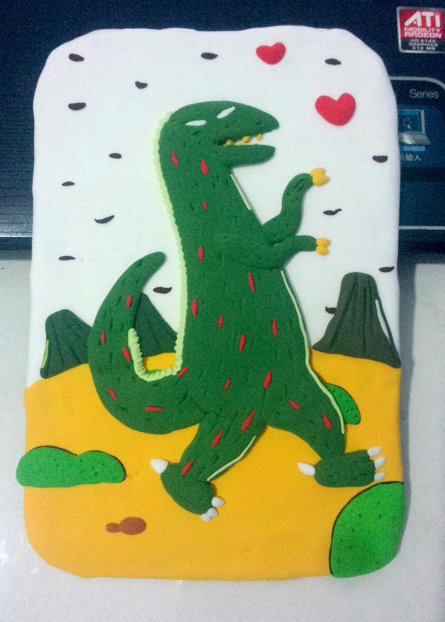 小恐龙绘本插画改编儿童手工超轻粘土diy图片