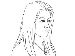 刘勇良线描作品:妙龄女孩儿