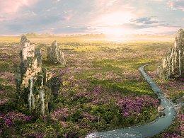 唐智临_matte painting_flower land