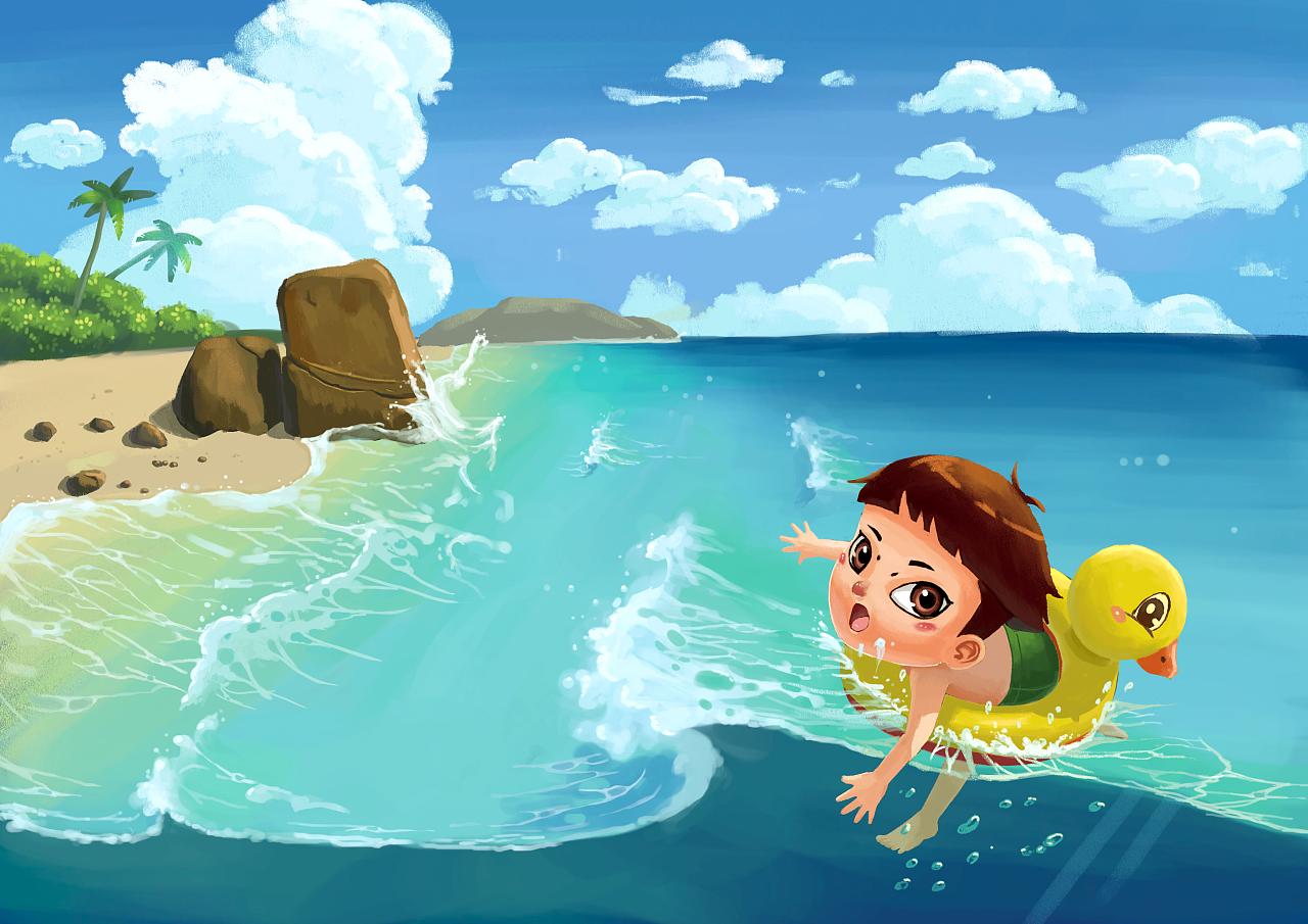 游泳的孩子