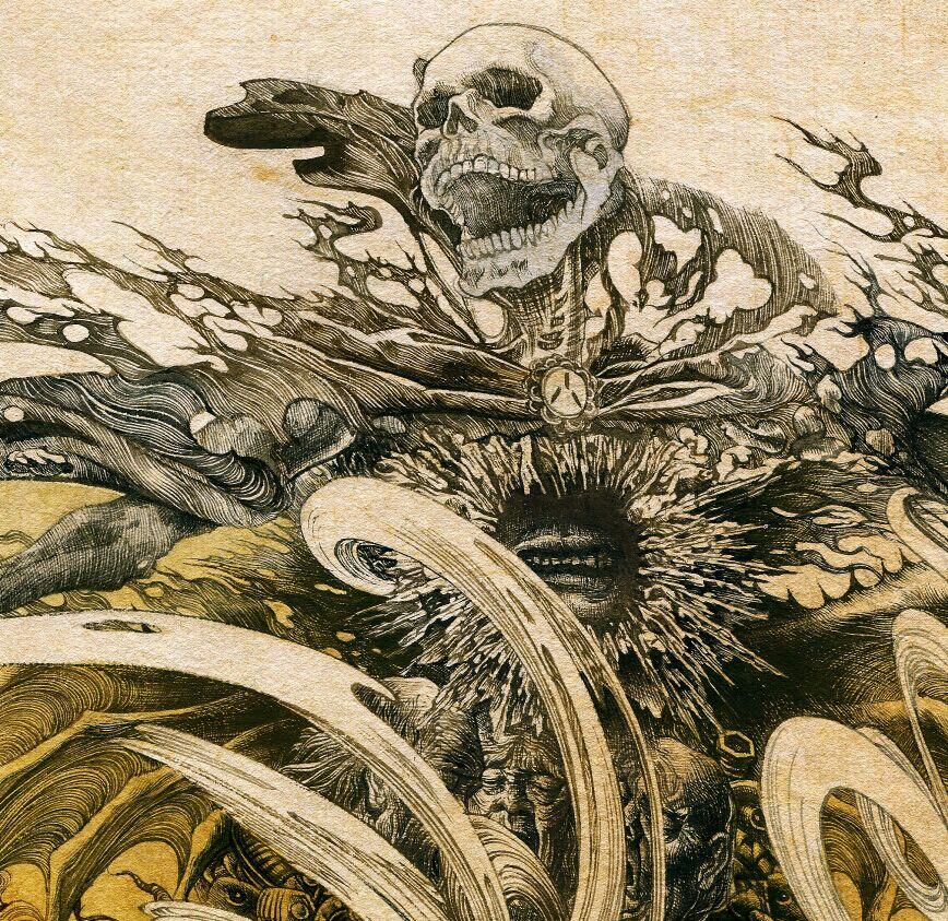 小说《玺》最新毛笔手绘插图|插画|概念设定|卢波