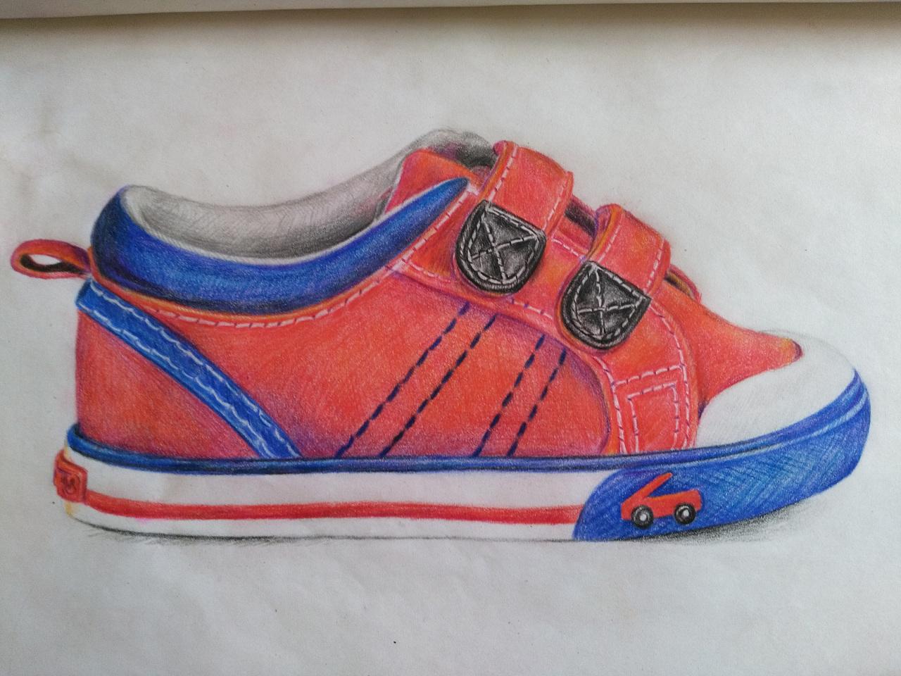 手绘帆布鞋