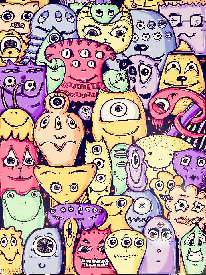 手绘涂鸦,手机上色