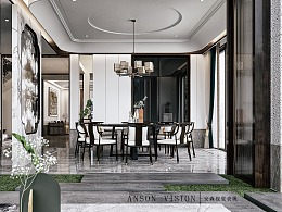 Anson︱鎏金云上 样板房
