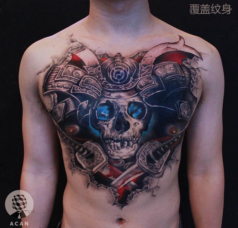 日本武士纹身图片