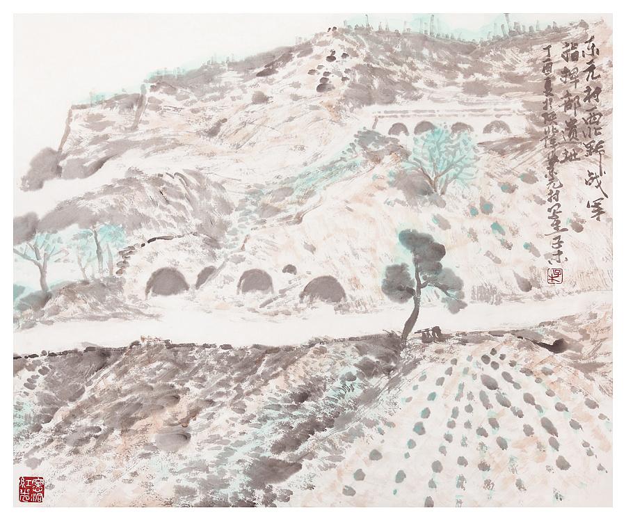 查看《子木画毛泽东转战陕北走过的地方写生作品选》原图,原图尺寸:1332x1108