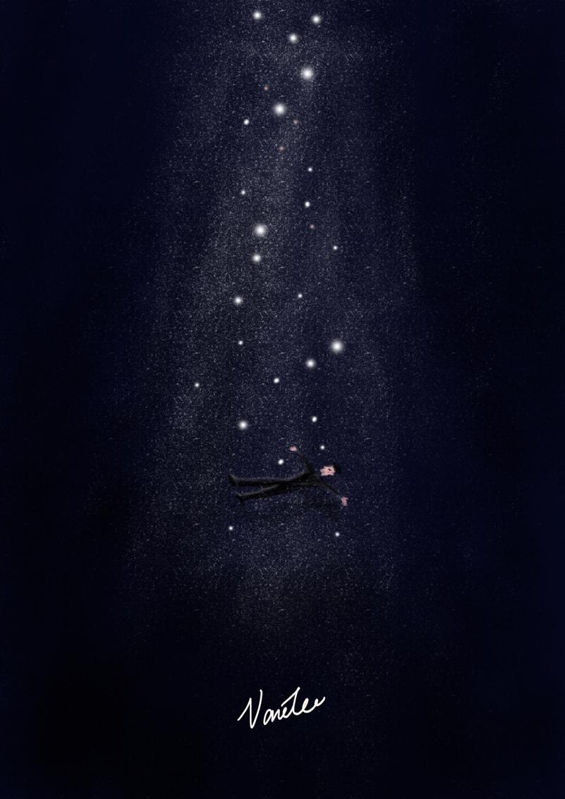 漫天星空 绘画习作 插画 lee海儿图片