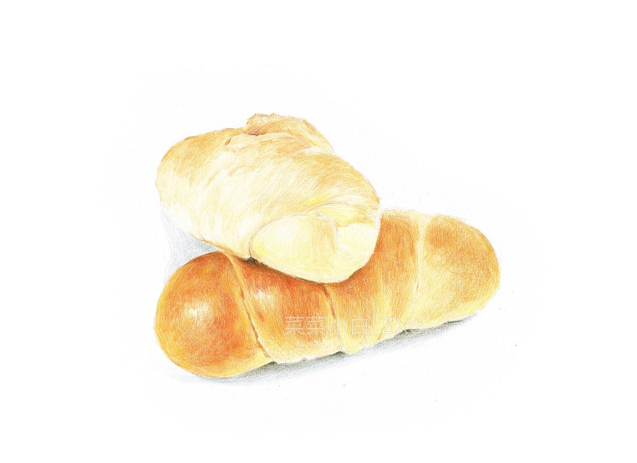 彩铅手绘——面包