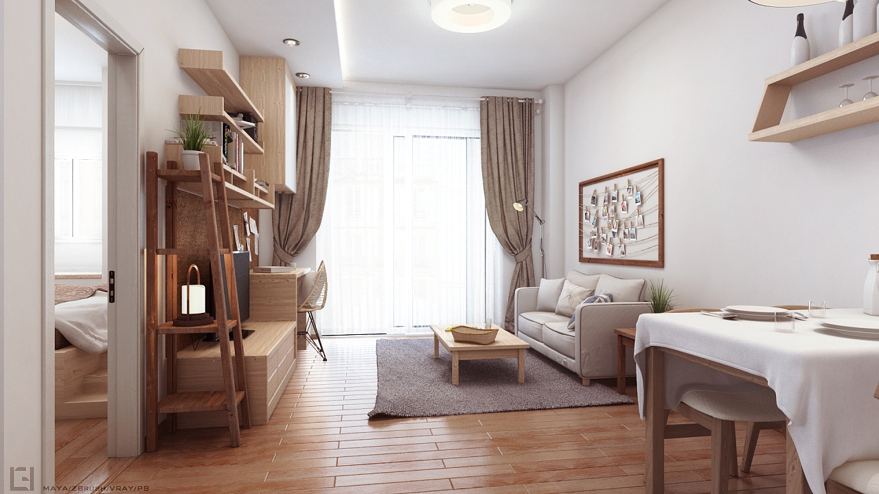 【cyong】原木风室内设计|空间|室内设计|cy8135643图片