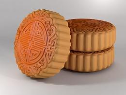 中秋月饼-C4D模型