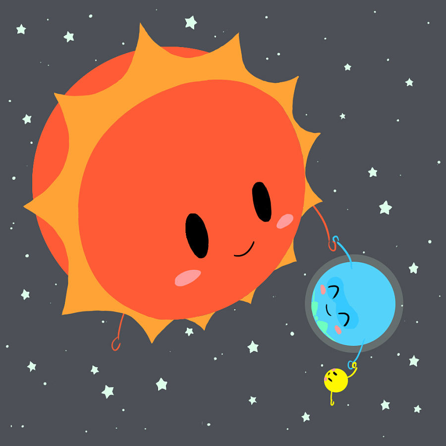原创作品:太阳地球月亮