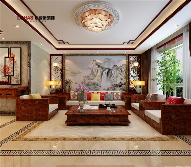 创艺紫御府169平中式装修效果图|室内设计|空东胜景室内设计工作室图片