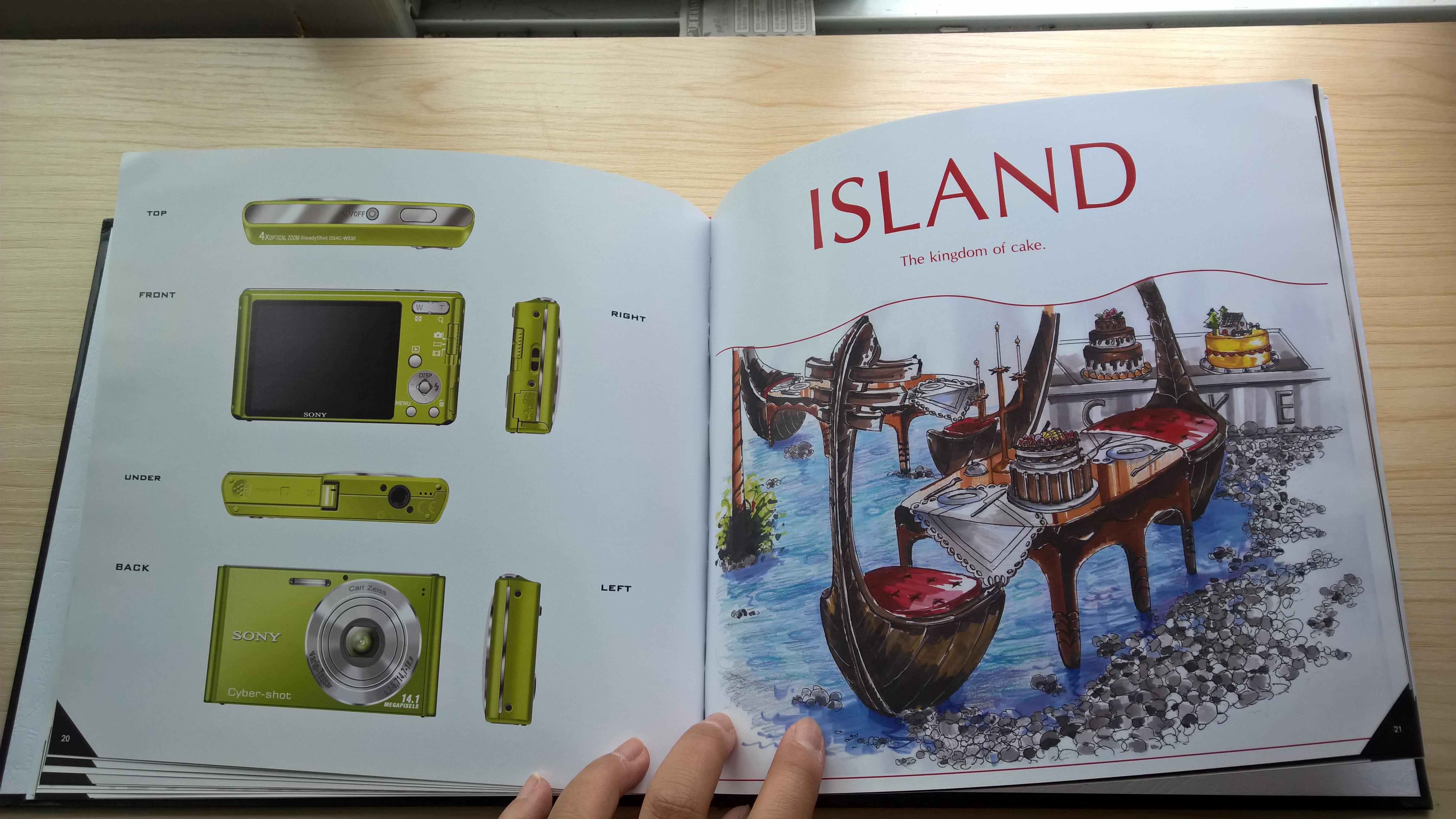 12页--sony相机临摹(左边),创意蛋糕店一角设计(右边)图片