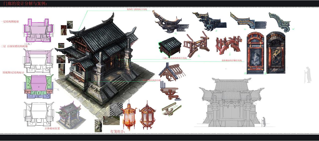 场景建筑房屋原画设计