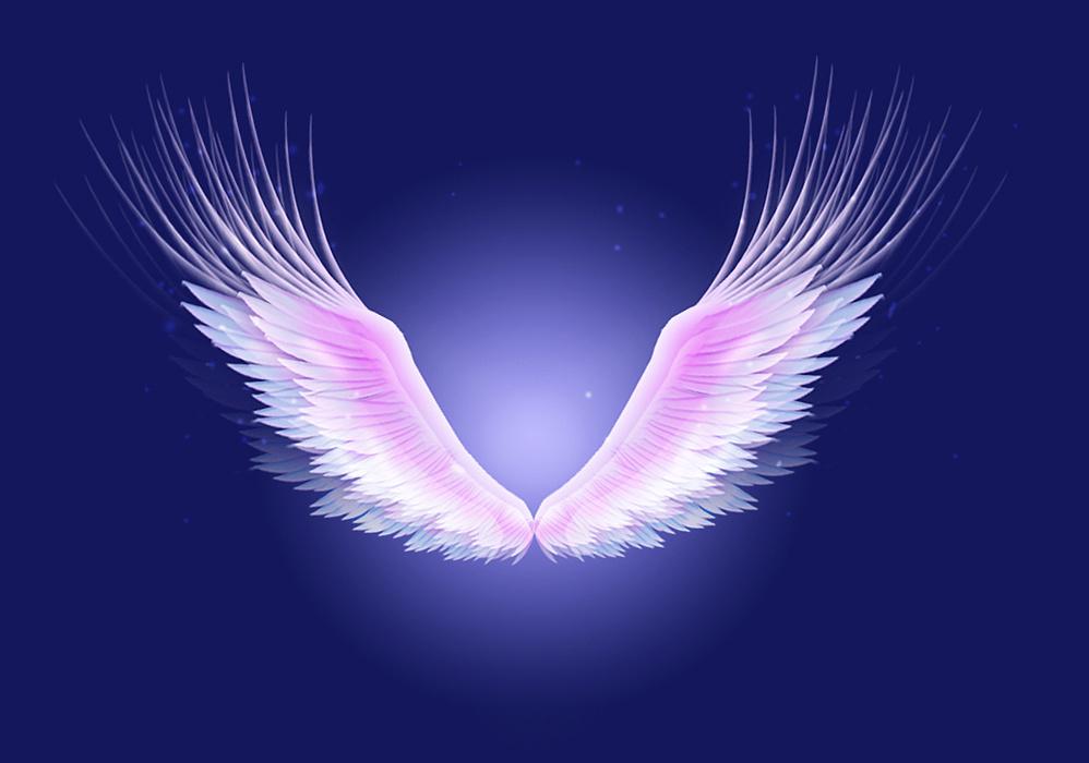 炫彩天使翅膀  纯手工制作  无素材