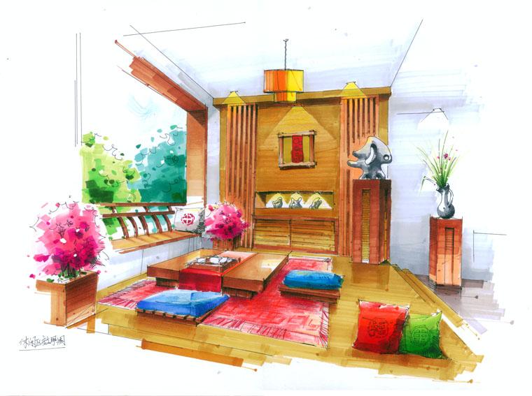08年的马克笔手绘作品室内|彩铅|纯艺术|ikokoro