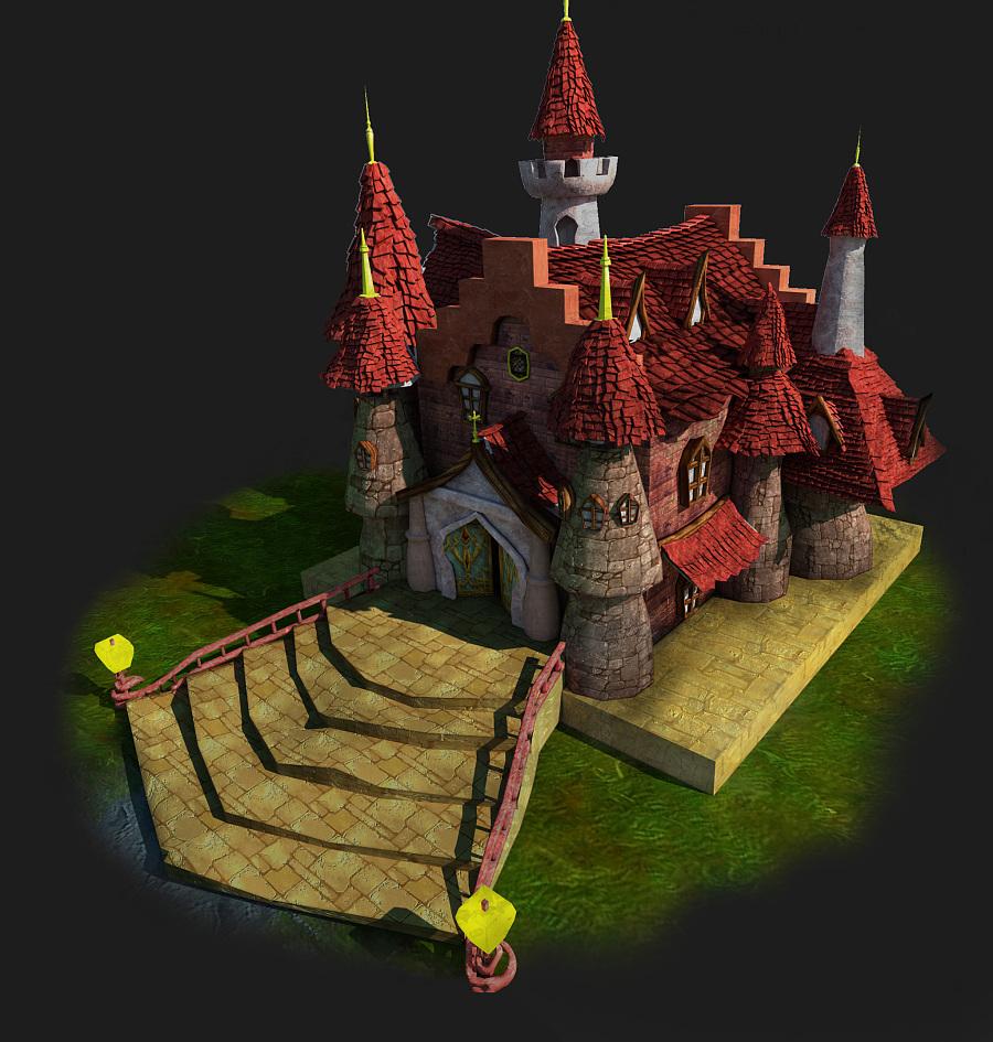 二维场景城堡|图形/图案|平面|馋食光阴 - 原创设计图片