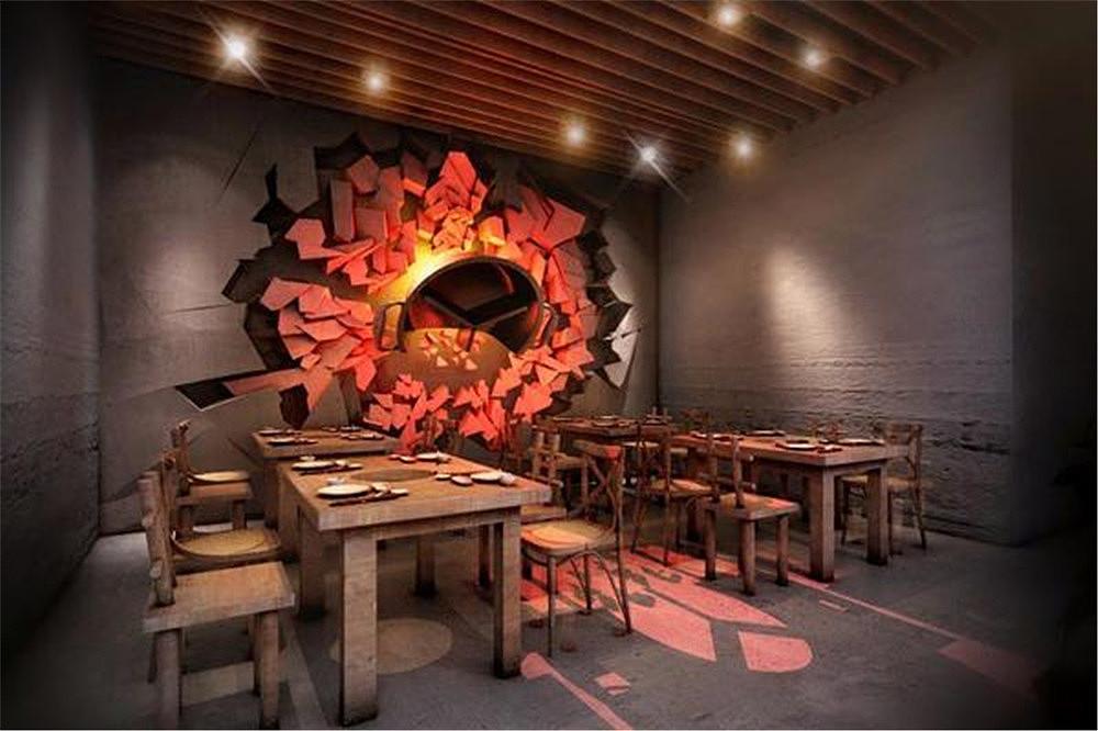 北京魏老香马驹桥店餐饮设计空间|案例|室内设计|海岸永安竹家具大赛设计作品图片