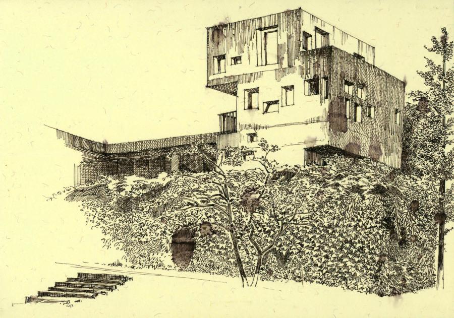 中国美术学院 校园写生 钢笔画 纯艺术 juggerna