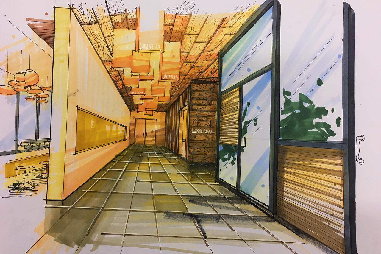 「原创」马克笔手绘-作业|空间|室内设计|李书妮